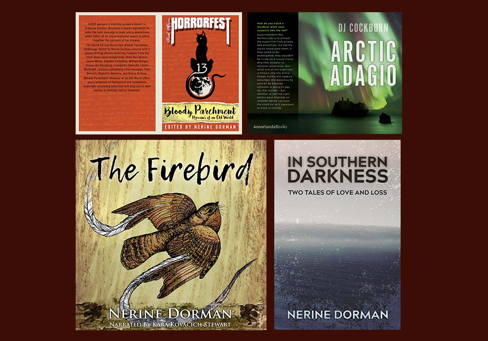 Assorted book cover designs.