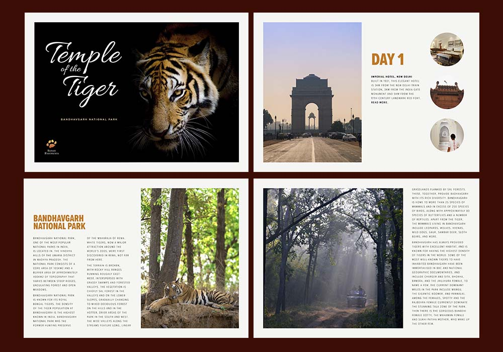 Another online brochure for Safari Footprints.