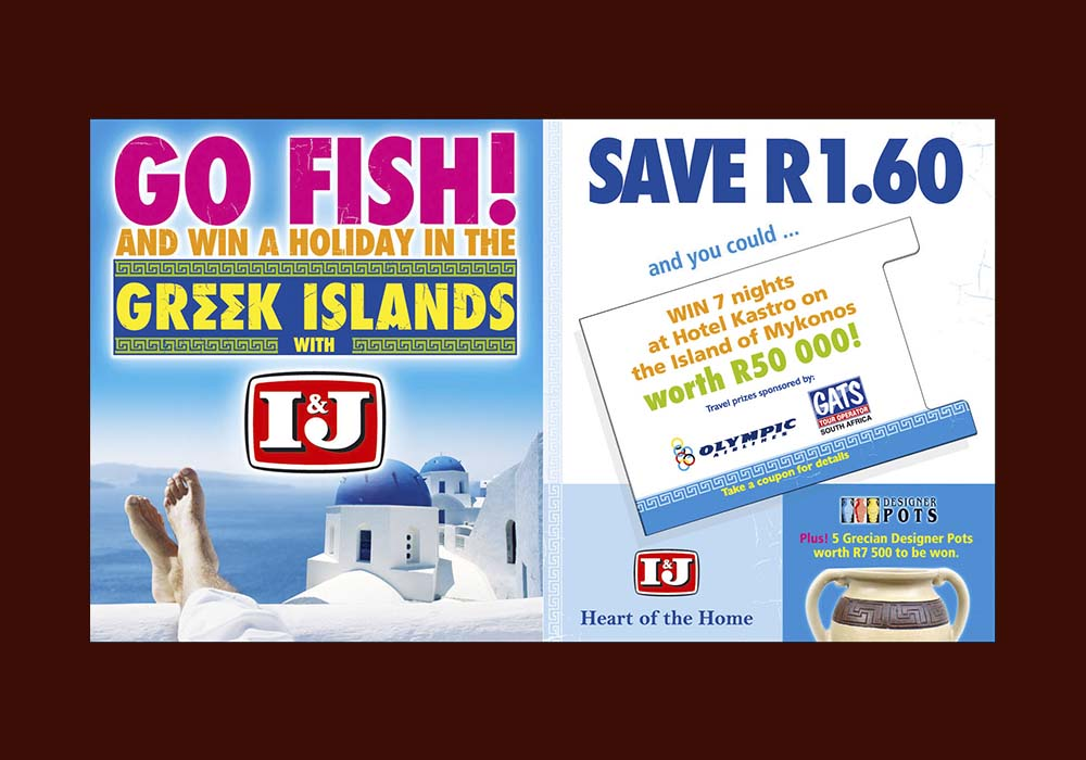 A highly successful Easter in-store campaign for I&J offered shoppers free recipes, money saving coupons and a grand holiday prize. The combination of Free, Save and Win proved to be irresistible.