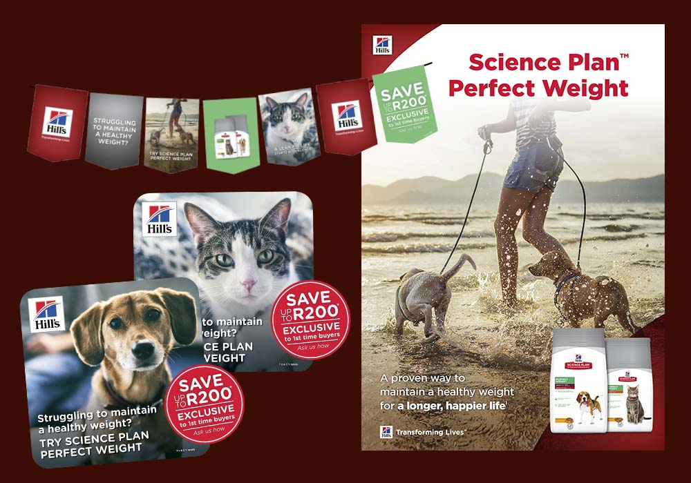 Another emotive campaign designed by us to switch pet parents with weight susceptible pets to Science Plan Perfect Weight.