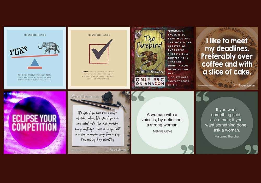 A selection of social media posts