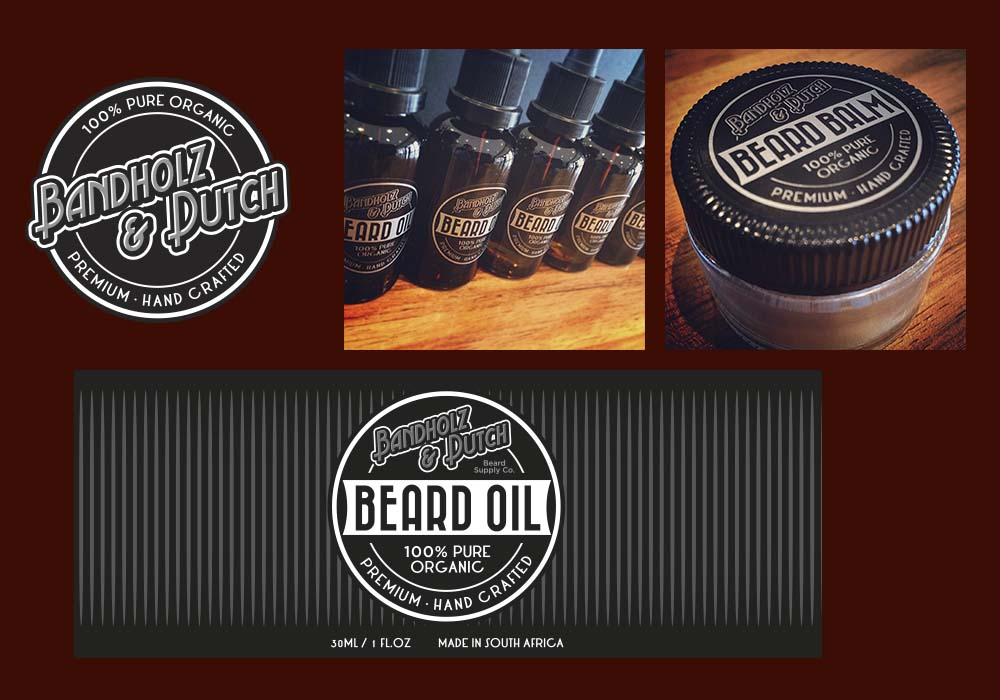 Our label design for Bandholz & Dutch beard oil.